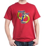 """Happily Married"" Black T-Shirt"