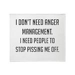 Anger Management Throw Blanket