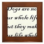 Dog Whole Framed Tile