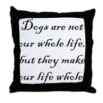Dog Whole Throw Pillow