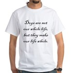 Dog Whole White T-Shirt