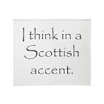Scottish Accent Throw Blanket