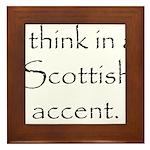 Scottish Accent Framed Tile