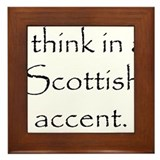 Scottish Accent Framed Tile