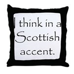Scottish Accent Throw Pillow