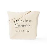 Scottish Accent Tote Bag