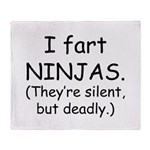 Fart Ninjas Throw Blanket