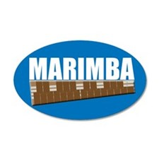 Marimba 22x14 Oval Wall Peel