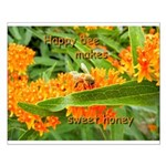 Happy bee Small Poster