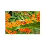 Happy bee Rectangle Magnet (100 pack)