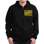 Happy bee Zip Hoodie (dark)