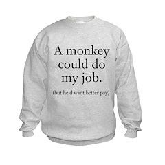 Monkey Job Kids Sweatshirt