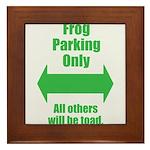 Frog Parking Framed Tile