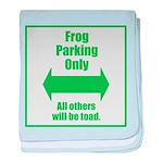 Frog Parking baby blanket