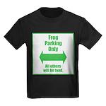 Frog Parking Kids Dark T-Shirt