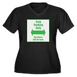 Frog Parking Women's Plus Size V-Neck Dark T-Shirt