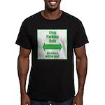 Frog Parking Men's Fitted T-Shirt (dark)