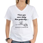 Love You More Women's V-Neck T-Shirt