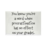 Procrastination Grade Rectangle Magnet (100 pack)