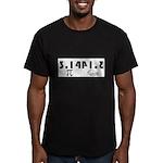 Pi Pie Men's Fitted T-Shirt (dark)