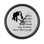 Monkey Poop Large Wall Clock