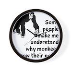 Monkey Poop Wall Clock