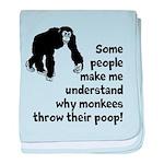 Monkey Poop baby blanket