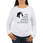 Monkey Poop Women's Long Sleeve T-Shirt