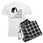 Monkey Poop Men's Light Pajamas