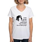 Monkey Poop Women's V-Neck T-Shirt