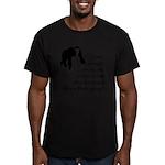 Monkey Poop Men's Fitted T-Shirt (dark)