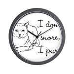 Cat Snore Wall Clock