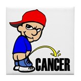 Piss On Cancer -- Cancer Awareness Tile Coaster