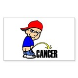 Piss On Cancer -- Cancer Awareness Bumper Stickers