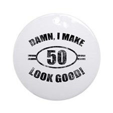 Damn Funny 50th Birthday Ornament (Round)
