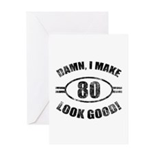 Damn Funny 80th Birthday Greeting Card