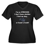 I'm So Stressed Women's Plus Size V-Neck Dark T-Sh