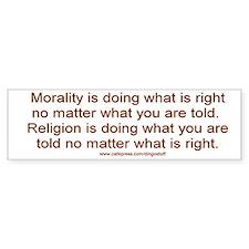 """""""Morality vs. Religion"""" Bumper Bumper Sticker"""