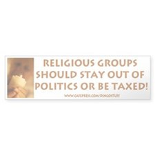 """Religious Groups"" Bumper Bumper Sticker"