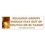 &quot;Religious Groups&quot; Bumper Car Sticker
