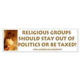 """Religious Groups"" Bumper Car Sticker"