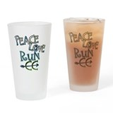Peace Love Run CC Drinking Glass