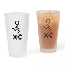 Cross Country X-C Drinking Glass