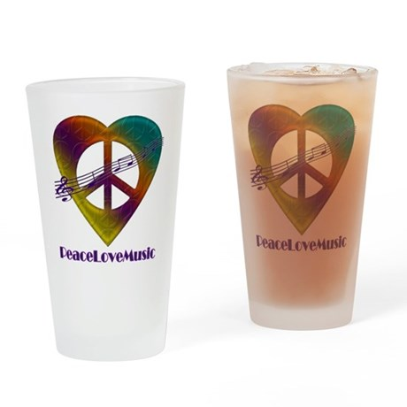Peacelovemusic2 Drinking Glass