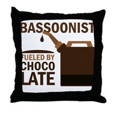 Bassoon Humor Chocolate Gift Throw Pillow