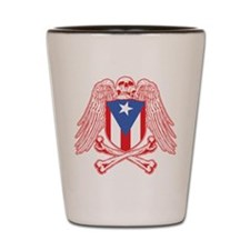Puerto Rico Crossbones Shot Glass