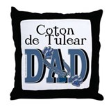 Coton de Tulear DAD Throw Pillow