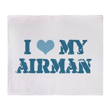 I ♥ my Airman Throw Blanket