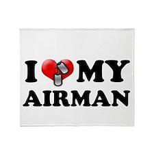 I (heart) my Airman Throw Blanket