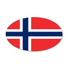 Flag of Norway 22x14 Oval Wall Peel